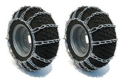 pair 2 link tire chains 18x8 5x8