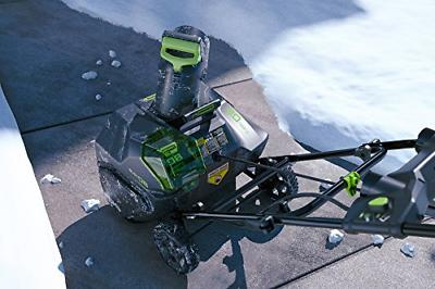 Greenworks Cordless Snow Thrower, 2.0 AH Battery Included