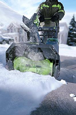 Greenworks 20-Inch Cordless Snow Thrower, AH Battery Included