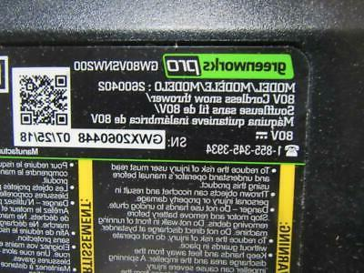 Greenworks Pro - NO BATTERIES