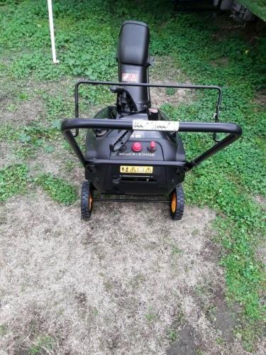 pro single stage electric start snow blower