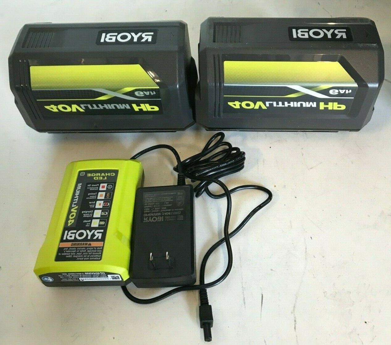 Ryobi RY40860 in. 40V Brushless Cordless Blower KIT, GR
