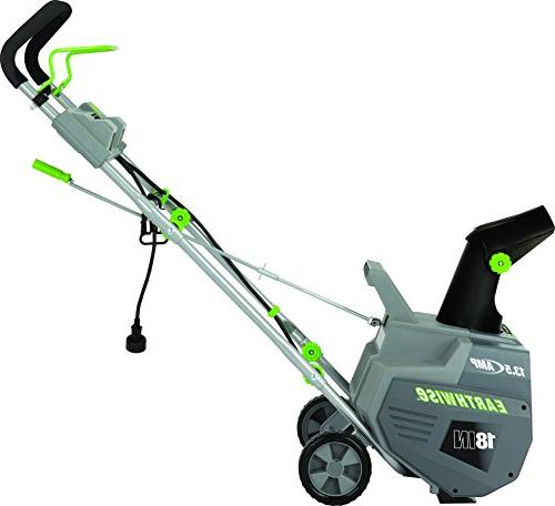 "Earthwise SN72018 13.5 Amp Snow Thrower, 18"" Width, Lights, 700lbs/Minute"