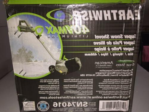 Earthwise Sn74016 40-Volt Electric Snow Motor.