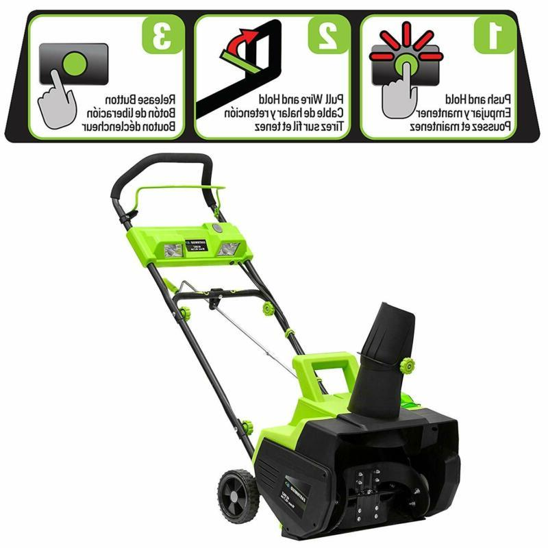 Earthwise Sn74018 Cordless 40-Volt 4Ah 18-Inch Snow