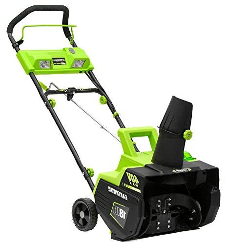 Earthwise SN74018 Cordless Electric 40-Volt 18-Inch 500lbs/Minute, With