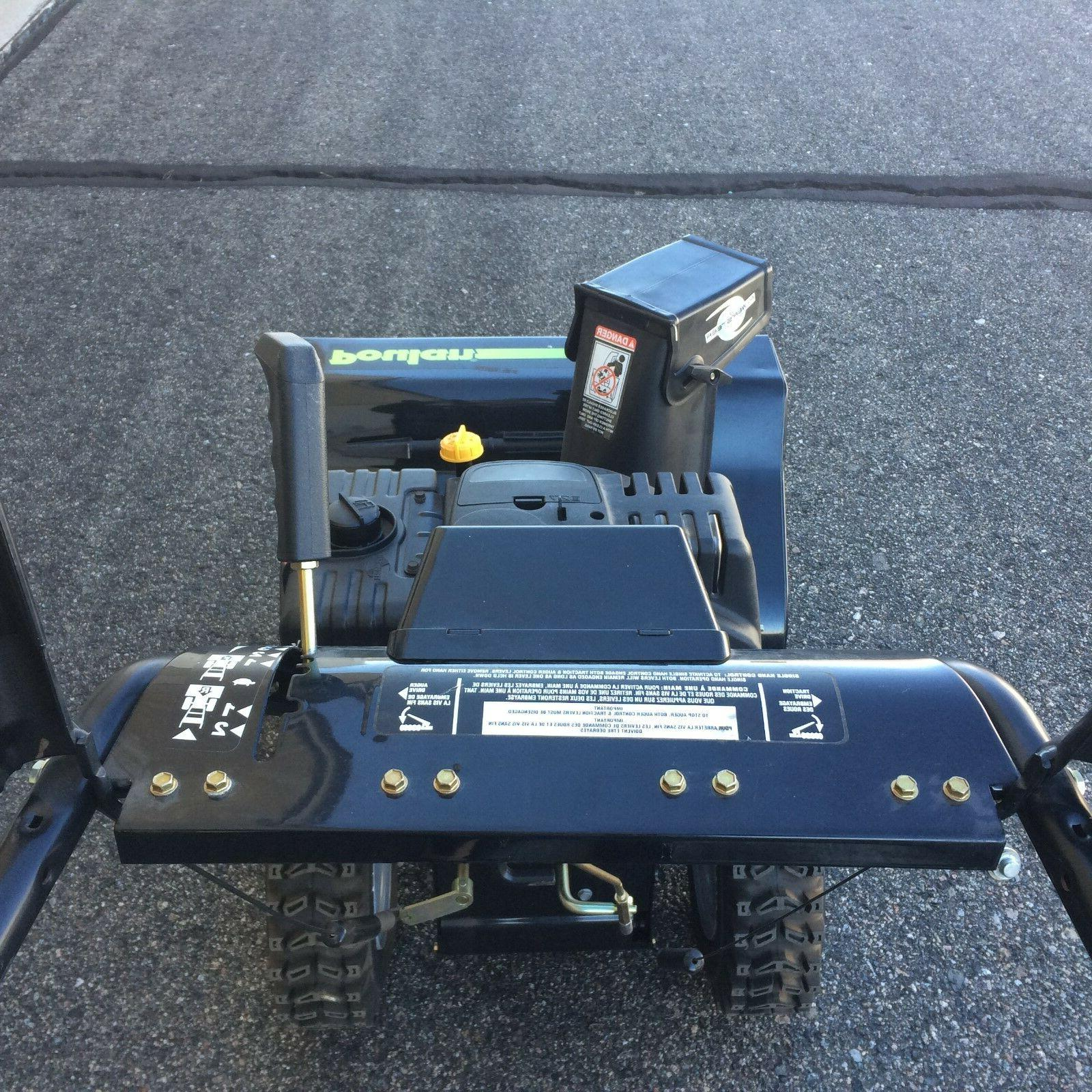 snow blower-Poulan Start, Dual 10.5 HP, NEW
