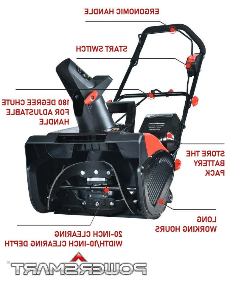 "SNOW 18"" Electric Cordless Battery"