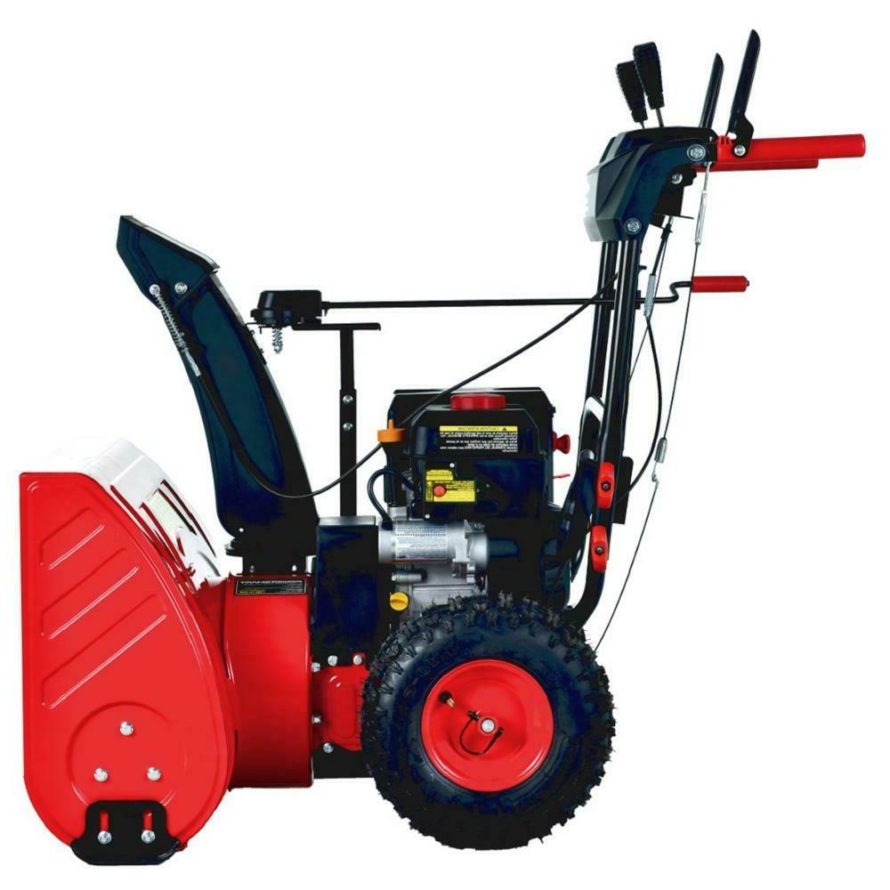 """PowerSmart Two Stage Gas Steel cc Electric Start 24"""""""