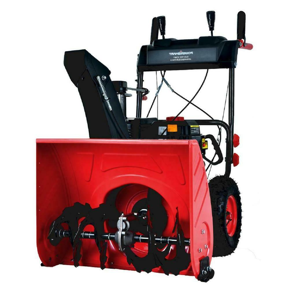 snow blower two stage gas heavy duty