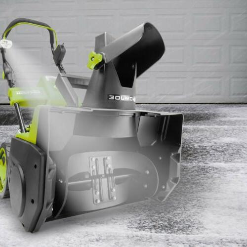 snow joe ion18sb pro grn cordless snowblower