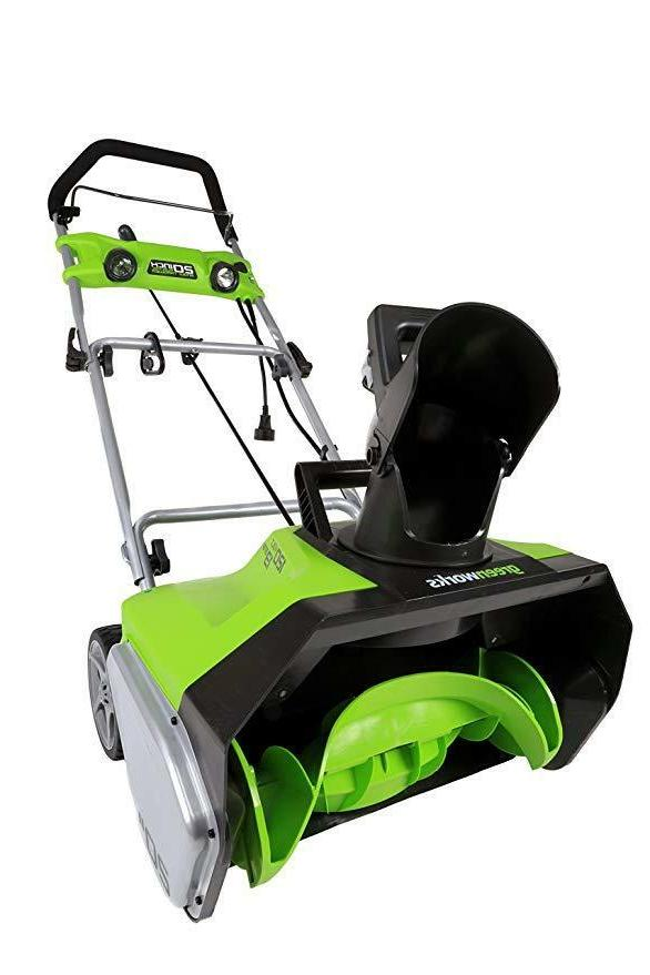 snow thrower blower stage electric 20 inch