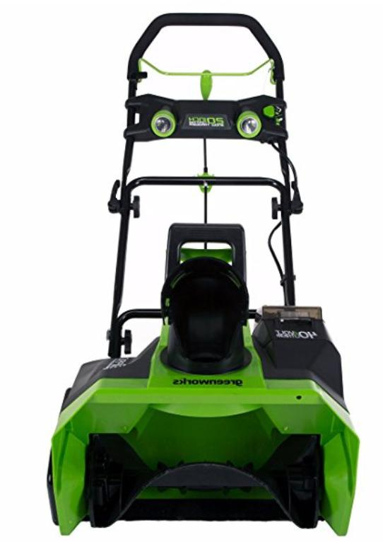 Snow Blower Greenworks inch BATTERY