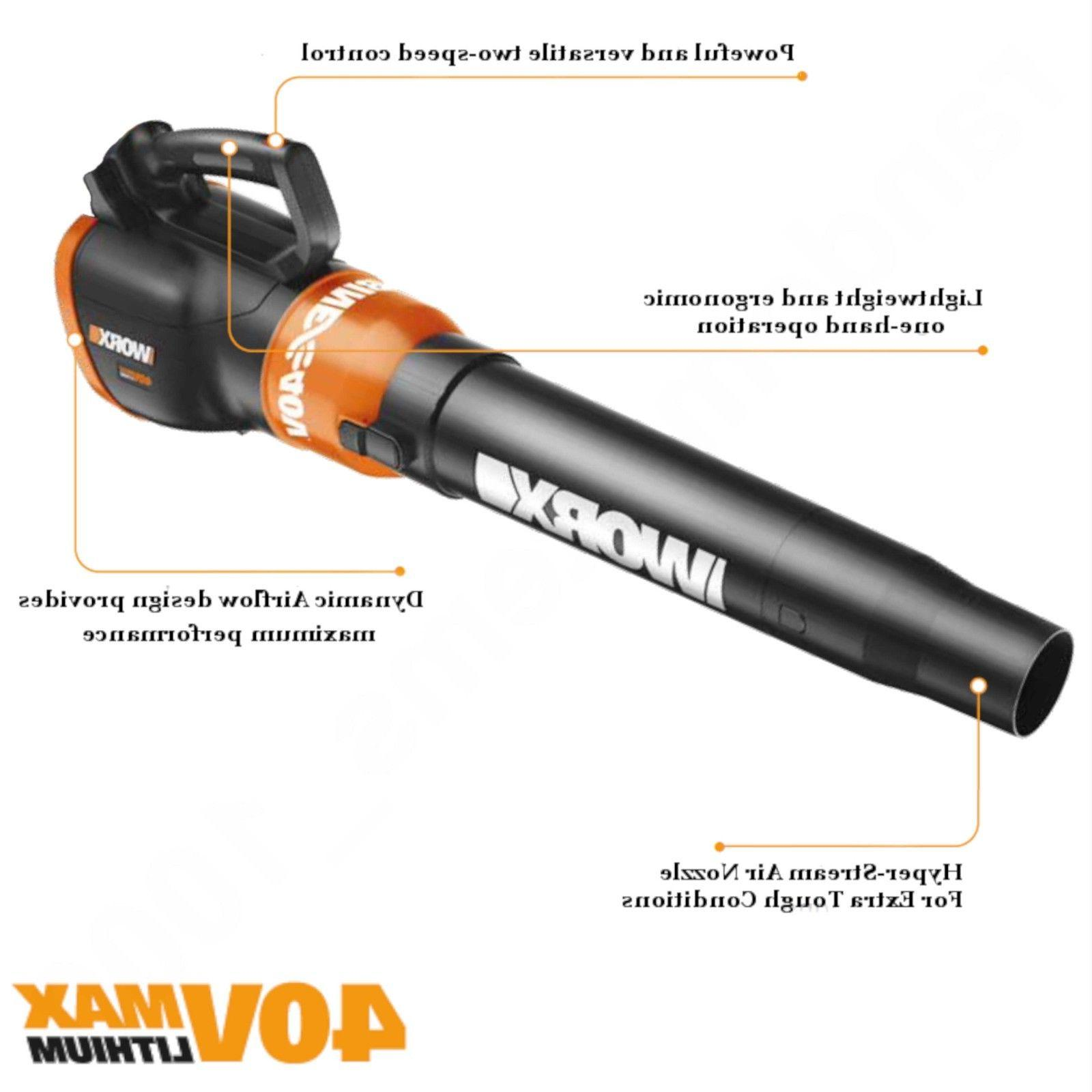 WORX Leaf Blower - TOOL NO CHARGER