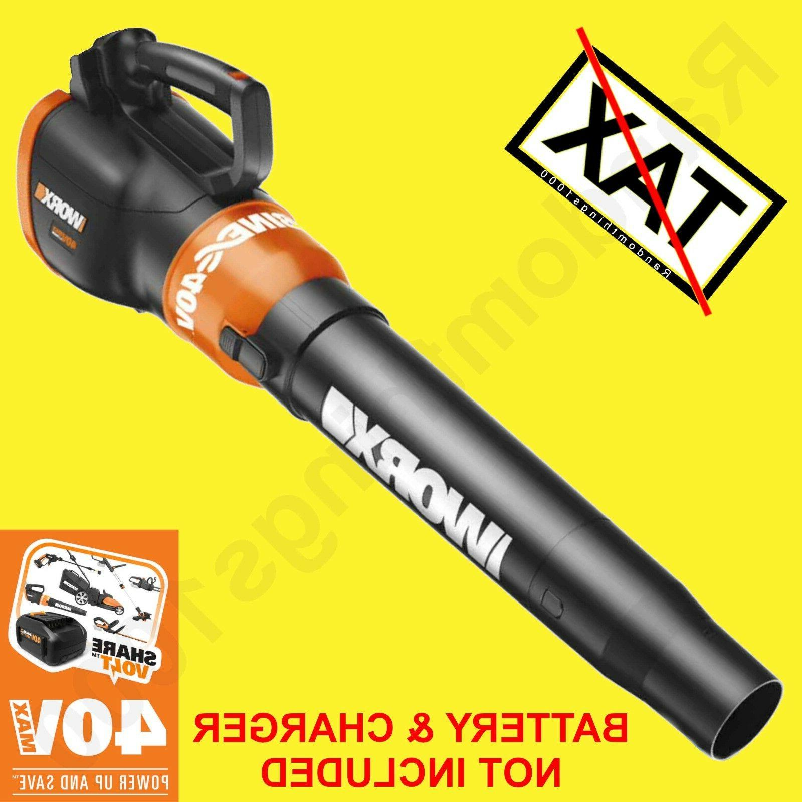 wg580 40v cordless leaf snow blower tool