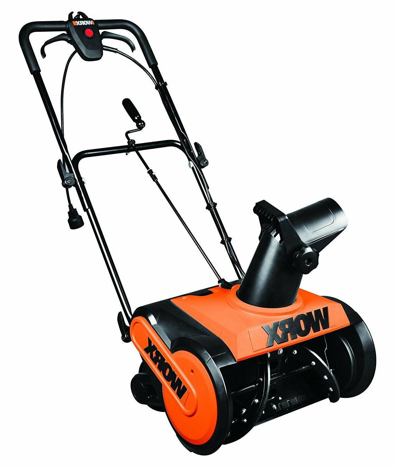 WORX WG650 18-Inch Amp Electric Snow Tool-Less Snow Thrower Snow