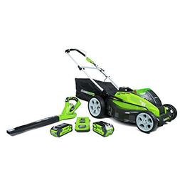 "GreenWorks 1300302 G-MAX 40V 19"" Lawn Mower and Blower Combo"