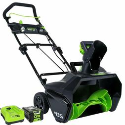NEW Greenworks PRO 20-Inch 80V Cordless Snow Thrower + 2.0 A
