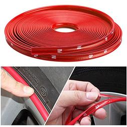 Nice Red Car Wheel Rim Edge Protector Ring Tire Guard Sticke