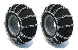 New PAIR 2 Link TIRE CHAINS 16x6.50x8 for Garden Tractors /