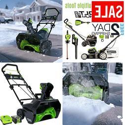 Greenworks PRO 20-Inch 80V Cordless Snow Thrower 2.0 AH Batt