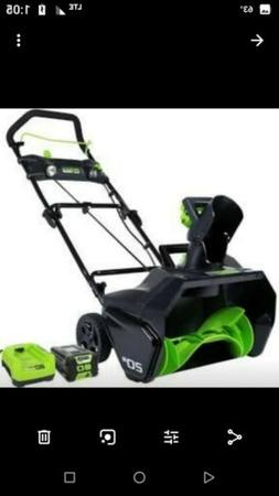 Greenworks PRO 20-Inch 80V Cordless Snow Thrower, 2.0 AH Bat