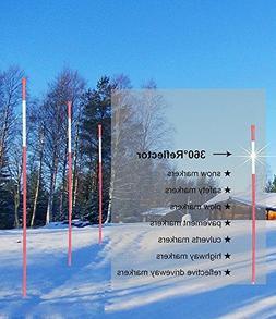 FiberMarker Snow Markers 48-Inch Reflective Snow Poles 5/16