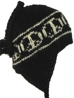 Retro Peace Sign Chullo Ski Cap