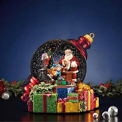 Santa Waterglobe with LED Lights