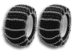 OakTen Set of Two Snow Tire Chains for Lawn Tractor Snowblow