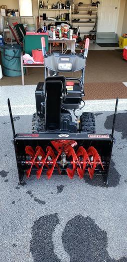 snow blower craftsman 30 inch 357cc chute joy stick control