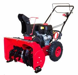 Snow Blower PowerSmart DB7622E Gas Snow Thrower, Red, Black