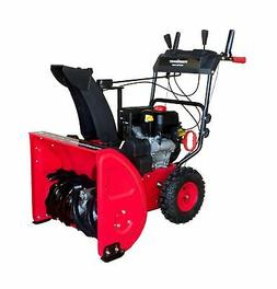 PowerSmart DB7124 2 Stage Gas Snow Blower, red, Black