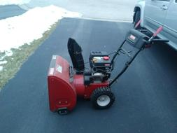 "Craftsman snow blower, red, 24"", electric start. Slightly us"