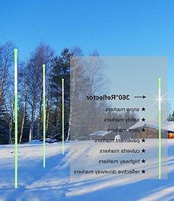 FiberMarker Snow Markers Driveway Reflectors Snow Stakes 36-
