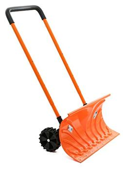 Snow Plow Shovel Pusher with Wheels – Snow Removal Tools f