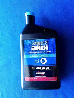 snow thrower oil tecumseh 4 cycle winter
