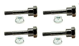 Set of 4 Snowblower Shear Pins & Nuts Replaces Husqvarna 531
