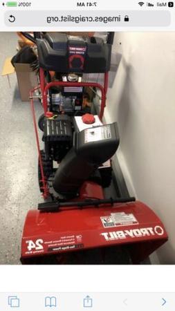 "Troy-Bilt 24"" 208 cc Two-Stage Gas Snow Blower w/Electric St"