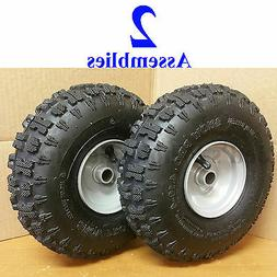 TWO 4.10-4 Snow Blower Thrower TIRE RIM WHEEL ASSEMBLY Kenda