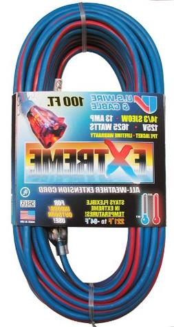 US Wire 98100 14/3 100-Foot SJEOW TPE Cold Weather Extension