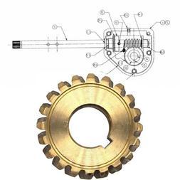 Worm Gear 20T Teeth Snow Blower Repair Part MTD Craftsman Tr